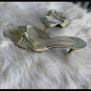 Nine West silver sandals size 8M